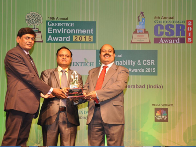 We received 5th Annual Greentech CSR Gold Award in CSR