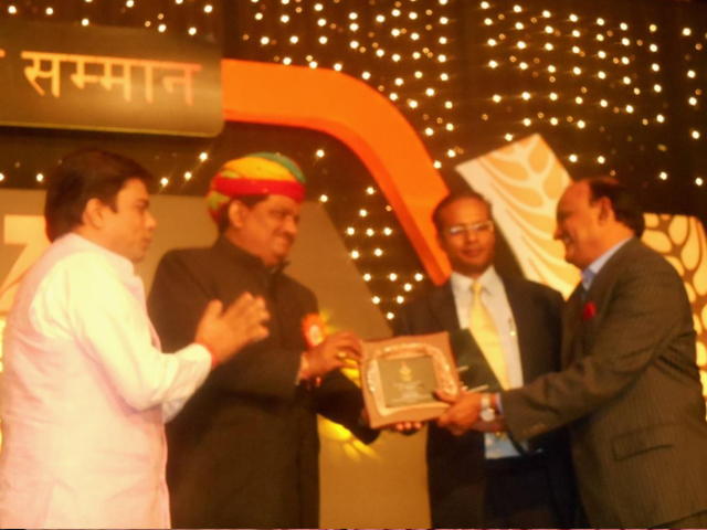 Lupin Foundation, Bharatpur received award from Zee for Bee keeping project.