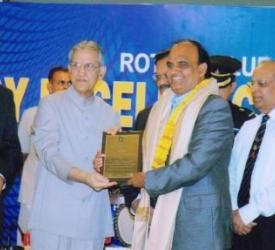 B L Joshi Governor of UP during rotary Awards to Lupin Foundation