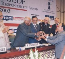 FICCI SEDF 2003 Ceremony Awards by K R Narayan